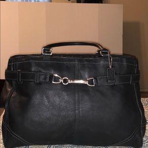 Coach Black Leather Laptop Bag